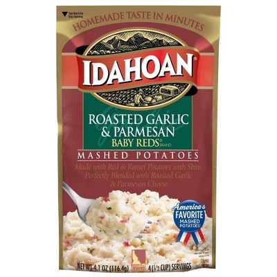 Idahoan Roasted Garlic & Parmesan Baby Reds Mashed Potatoes 4.1oz