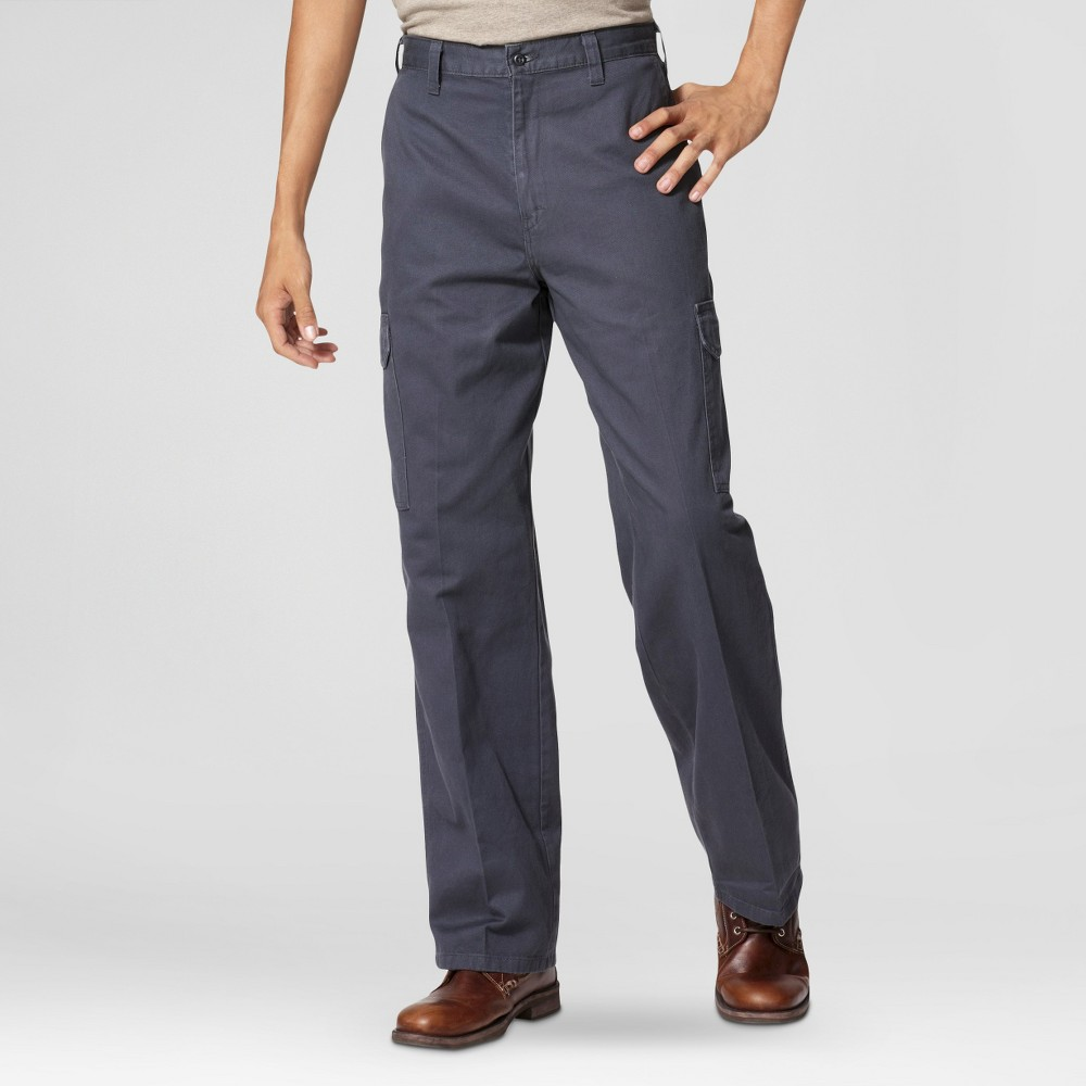 Dickies Men's Loose Straight Fit Cotton Cargo Work Pants- Charcoal (Grey) 30x32