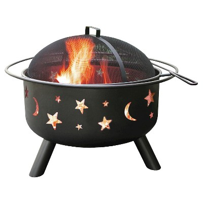 Landmann Stars & Moon Big Sky Fire Pit Steel - Black