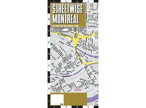 Streetwise Chicago Map.Streetwise Montreal Map City Center Street Map Of Montreal Canada