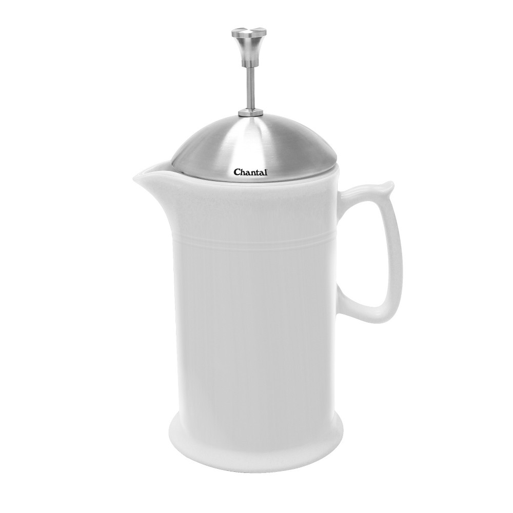 Image of Chantal Ceramic French Press 28oz - White