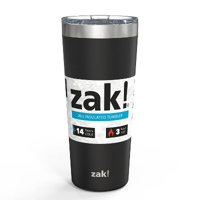 Zak! Designs 20oz Double Wall Stainless Steel Latah Tumbler - Black