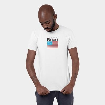 Men's NASA Flag Short Sleeve Graphic T-Shirt - White