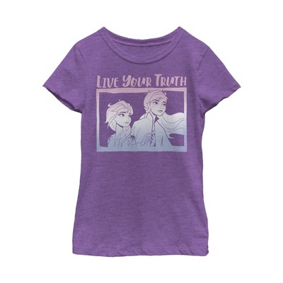 Girl's Frozen 2 Sister Live Truth T-Shirt