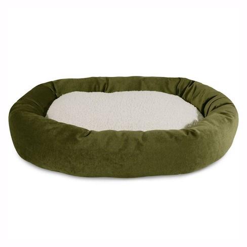 Majestic Pet Villa Collection Sherpa Bagel Dog Bed Fern 24 Target