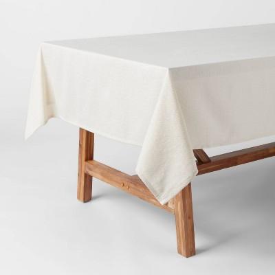 "104"" x 60"" Cotton Metallic Tablecloth Gold/Silver - Threshold™"