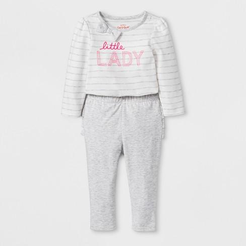 a2f55a0e96ae Baby Girls  2pc Long Sleeve Bodysuit and Ruffle Leggings Set - Cat ...