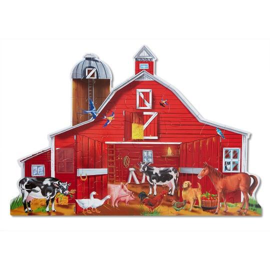 Melissa And Doug Farm Friends Jumbo Floor Puzzle 32pc image number null
