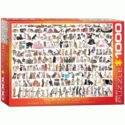 Eurographics Inc. The World of Cats 1000 Piece Jigsaw Puzzle