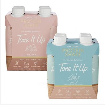 Tone It Up Chocolate + Vanilla Ready To Drink Shake - Bundle