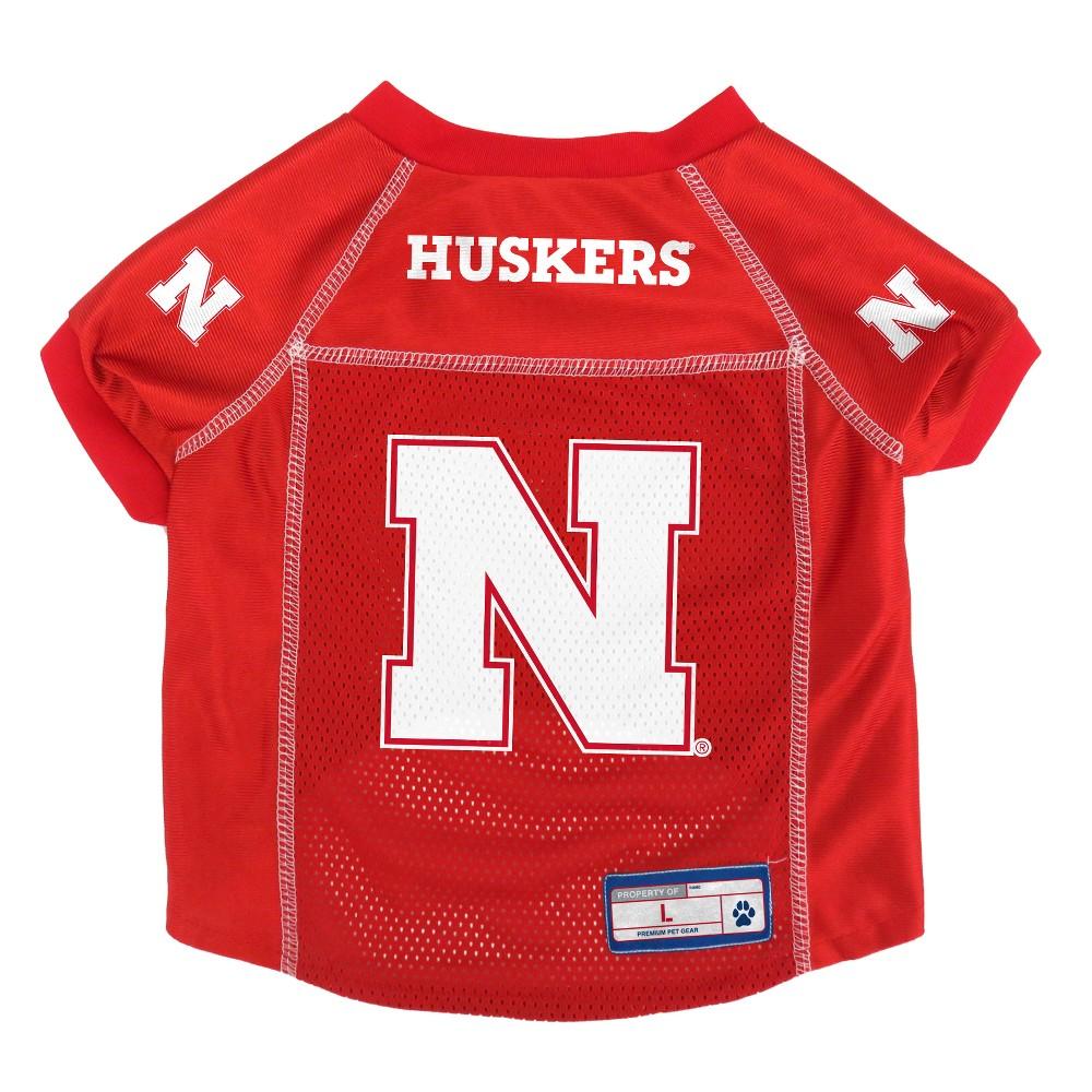 Nebraska Cornhuskers Little Earth Pet Football Jersey - M, Multicolored