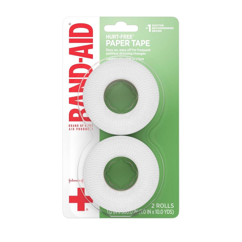 Band Aid Brand Of First Aid Products Hurt Free Paper Tape 1in X10yds 2ct