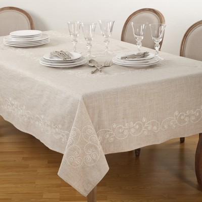 Tablecloth Khaki Saro Lifestyle