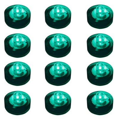 12ct Submersible Battery Operated LED Lights Teal