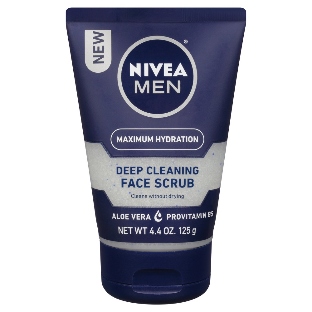 Image of Nivea Men 4.4oz maximum hydration face scrub