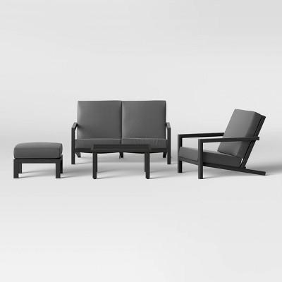 Asti 4pc Patio Conversation Set - Charcoal - Project 62™