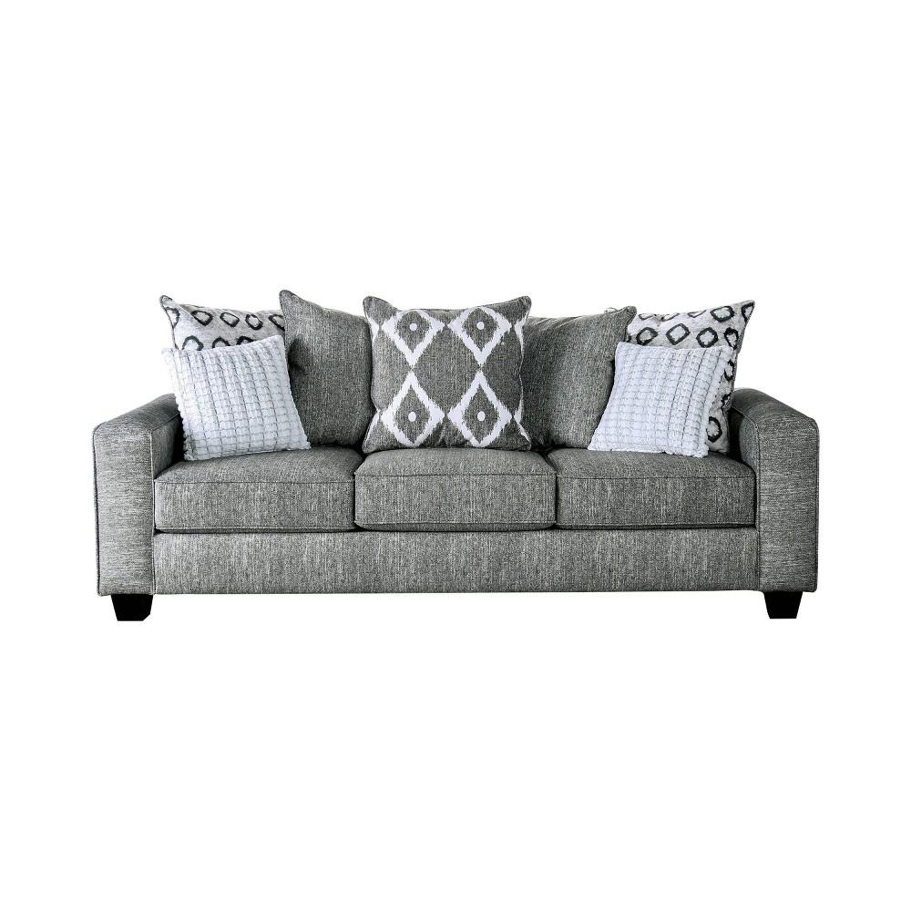 Amberly Track Arm Sofa Gray - miBasics