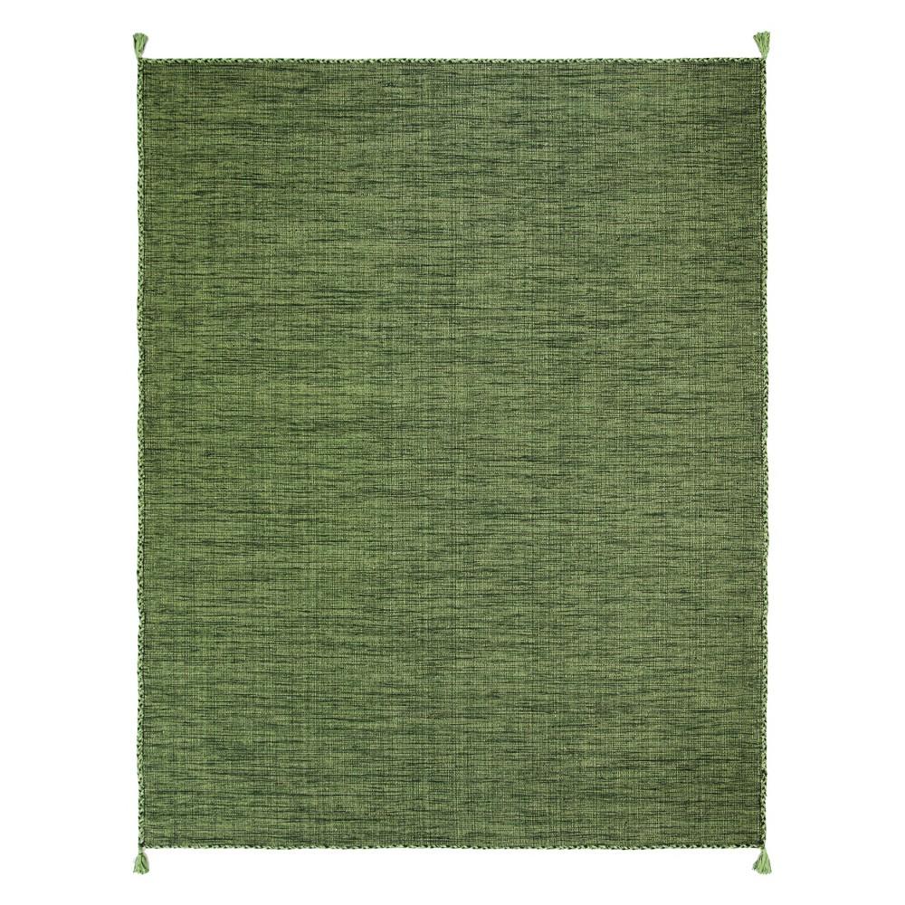 8'X10' Solid Woven Area Rug Green/Black - Safavieh