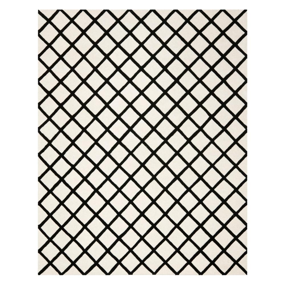 8 X10 Geometric Tufted Area Rug Ivory Black Safavieh