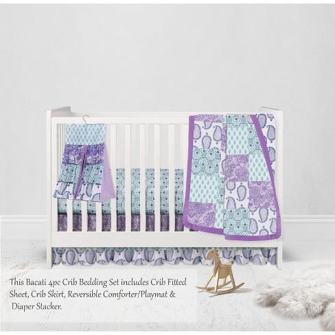 Paisley Isabella Purple Lilac Aqua 4 Pc, Brooklyn Crib Bedding