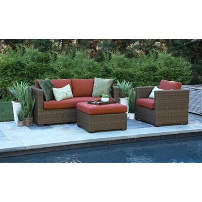 Redbay 3pc Deep Seating Set with Sunbrella Fabric - Canopy Home and Garden