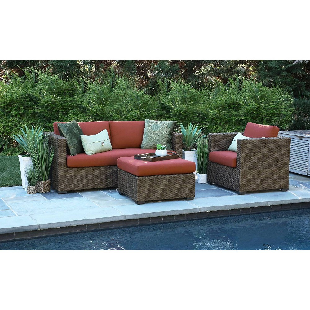 Image of Redbay 3pc Deep Seating Set with Sunbrella Fabric - Canopy Home and Garden