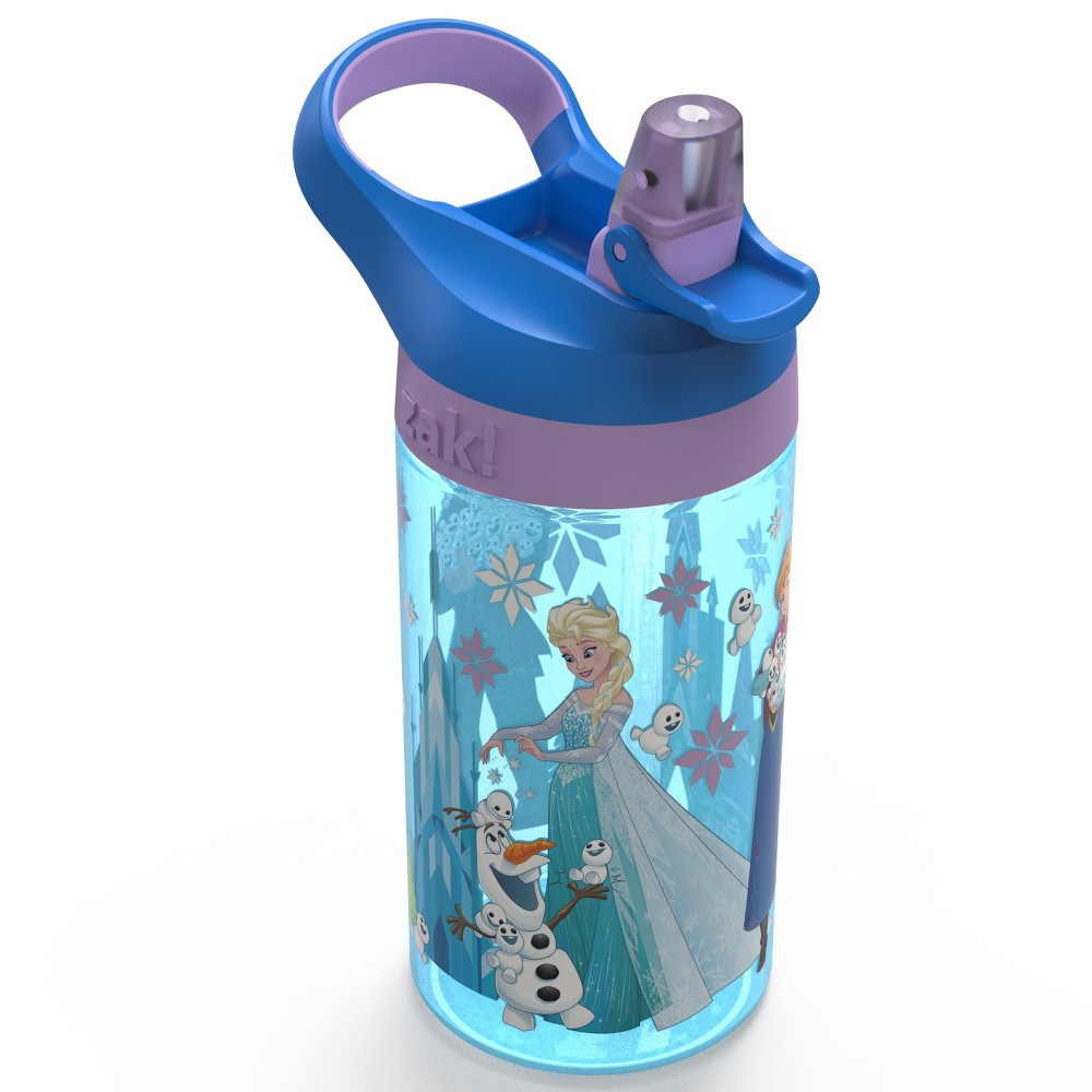 Image of Disney Frozen 16oz Anna Plastic Water Bottle Teal/Blue - Zak Designs