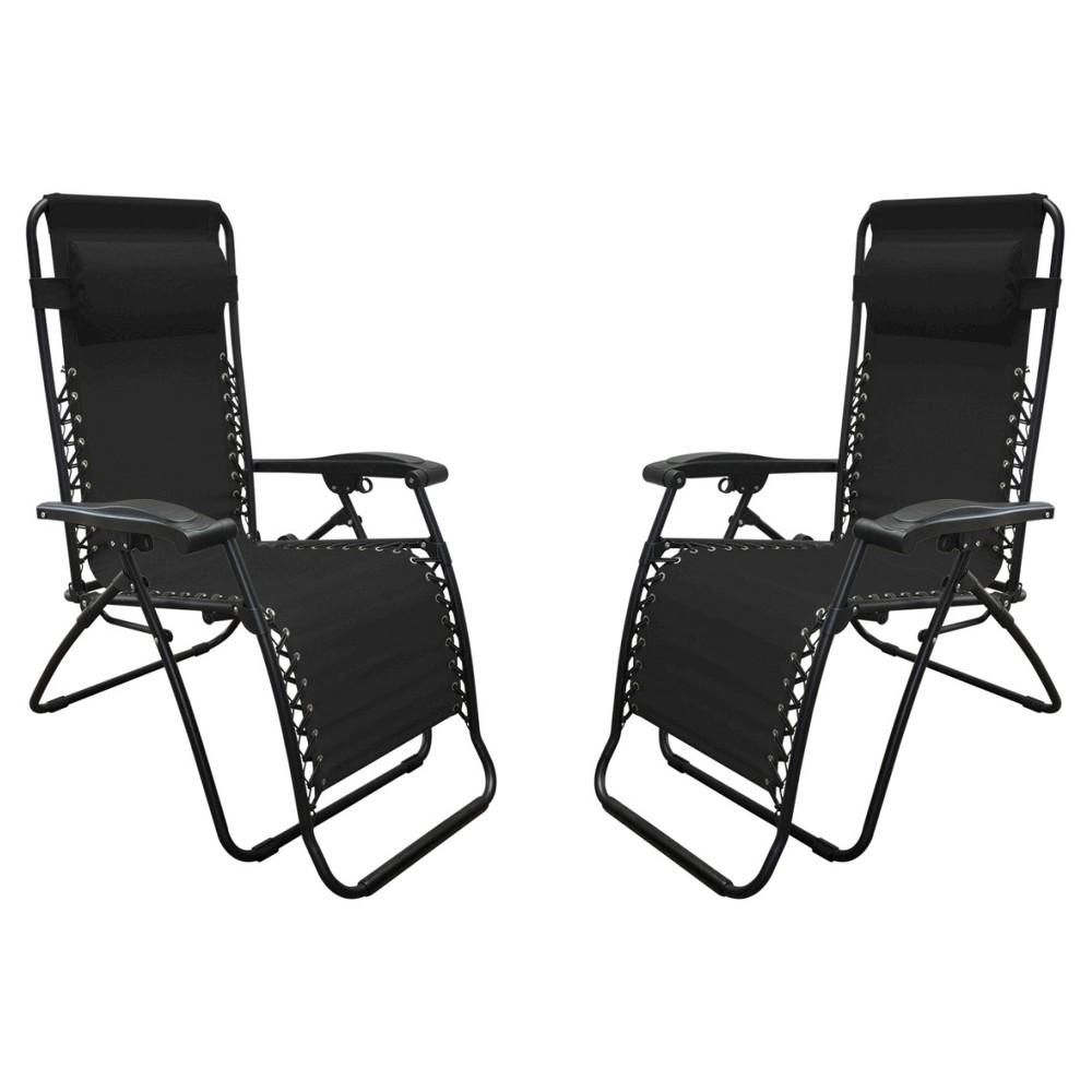 Image of Caravan Global 2 Piece Infinity Zero Gravity Chair - Black