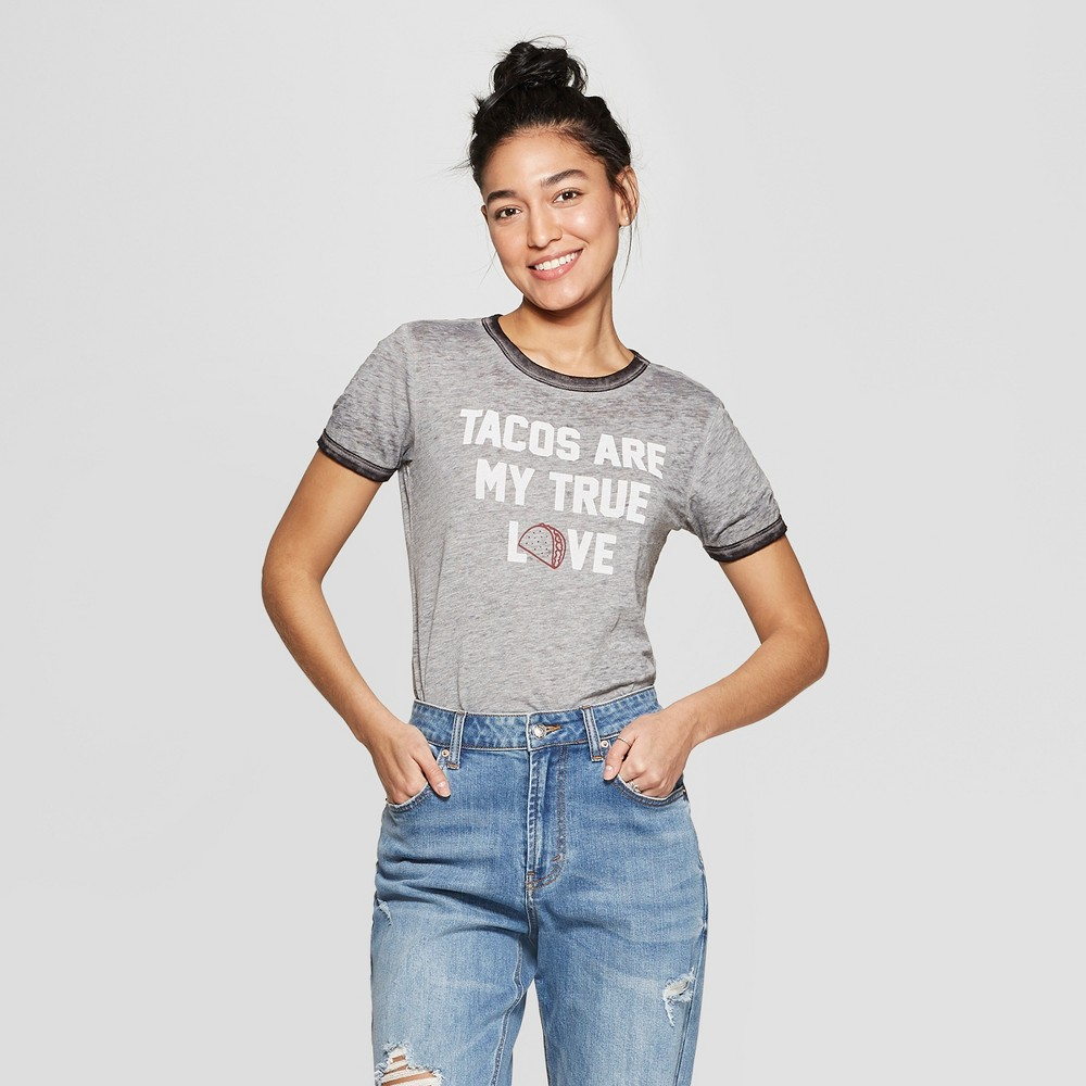 Women's Short Sleeve T-Shirt - Zoe+Liv (Juniors') Gray Xxl Women's Short Sleeve T-Shirt - Zoe+Liv (Juniors') Gray Xxl Gender: Female. Age Group: Adult. Pattern: Quote. Material: Cotton.