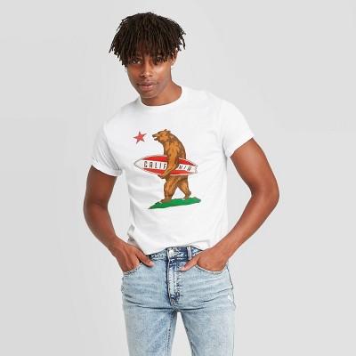 Men's Short Sleeve Surf Republic Graphic T-Shirt - Awake White