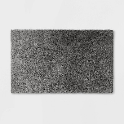 "24""x40"" Ultra Soft Tufted Bath Rug Dark Gray - Casaluna™"
