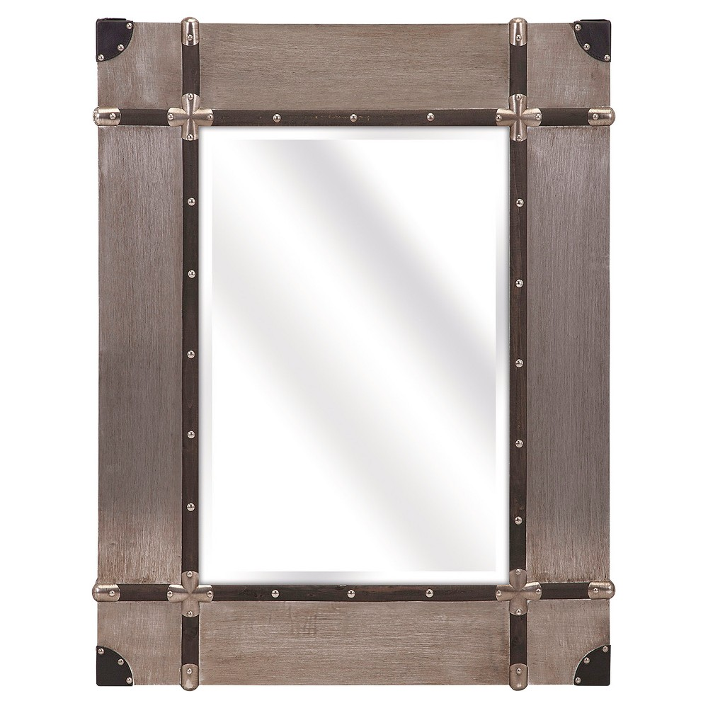 Rectangle Decorative Wall Mirror Brow/Gold - Aurora Lighting, Brown/Gold