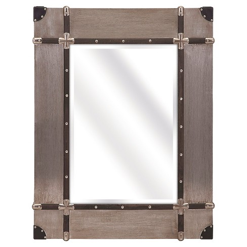 Rectangle Decorative Wall Mirror Brow/Gold - Aurora Lighting - image 1 of 2