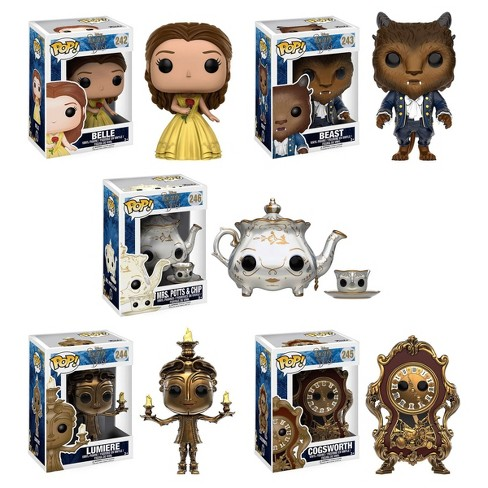 Funko Disney: POP Beauty And The Beast Collectors Set; Belle, Beast, Lumiere, Cogsworth, Mrs. Potts & Chip : Target