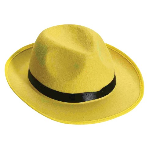 Adult Hat Fedora Yellow   Target 73823e38c8d