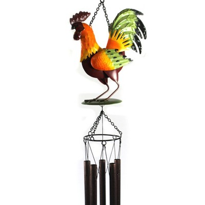 """Home & Garden 43.0"""" Rooster Wind Chime Music Tingling Farm Animal Direct Designs International  -  Bells And Wind Chimes"""