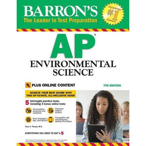 Barron's AP Environmental Science with Online Tests - 7 Edition by  Gary S Thorpe (Paperback) - image 1 of 1