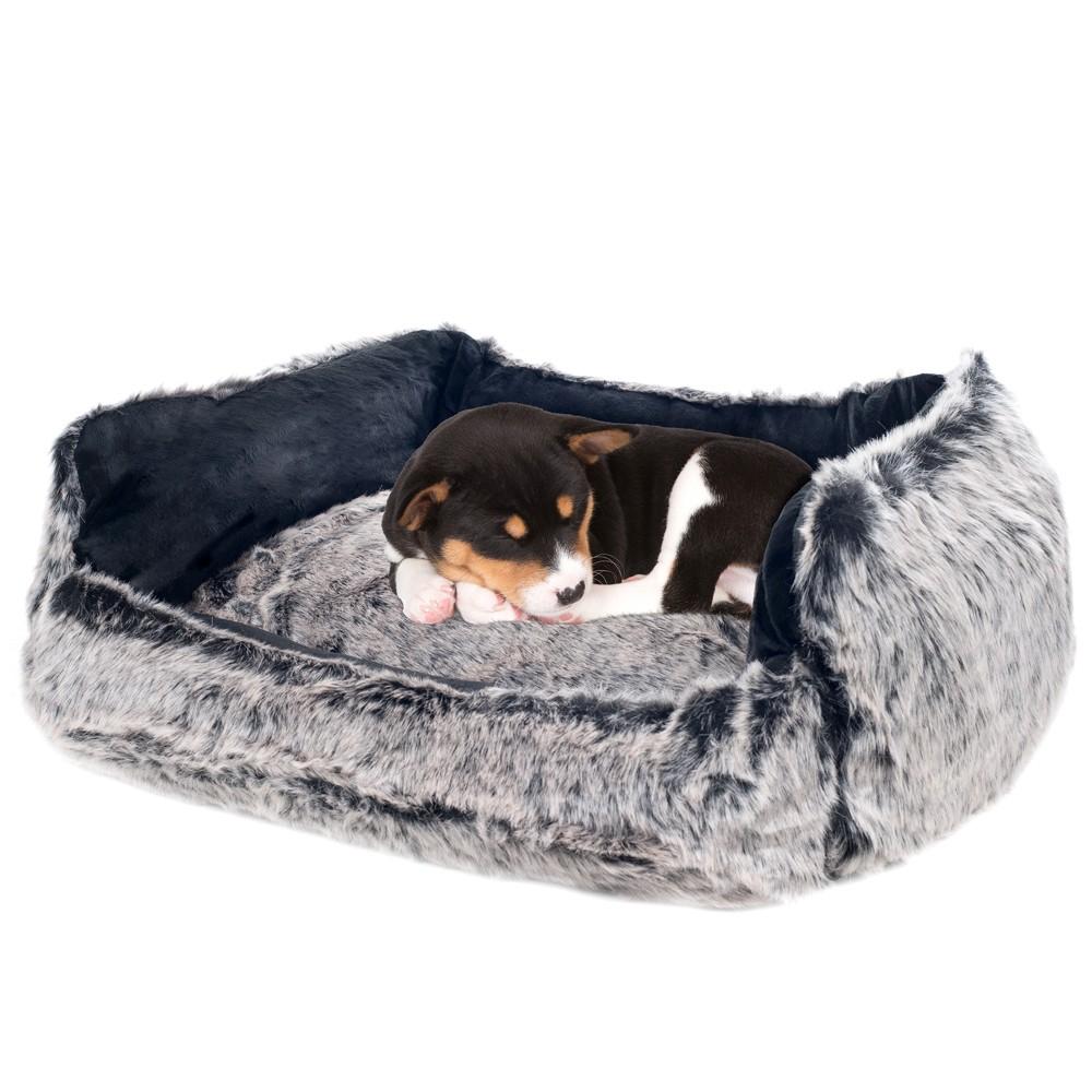 Petmaker Faux Fur Black Mink Dog Bed 27