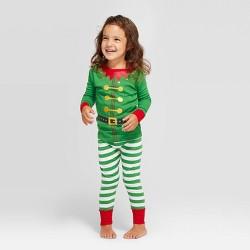 Toddler Holiday Elf Pajama Set - Wondershop™ Green