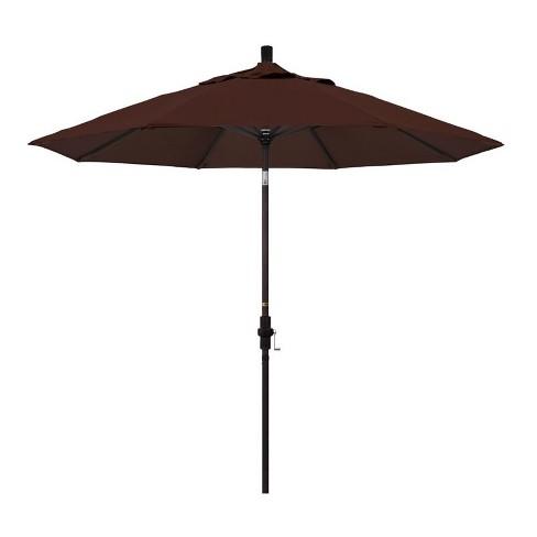 9' Patio Umbrella in Bay Brown - California Umbrella - image 1 of 2