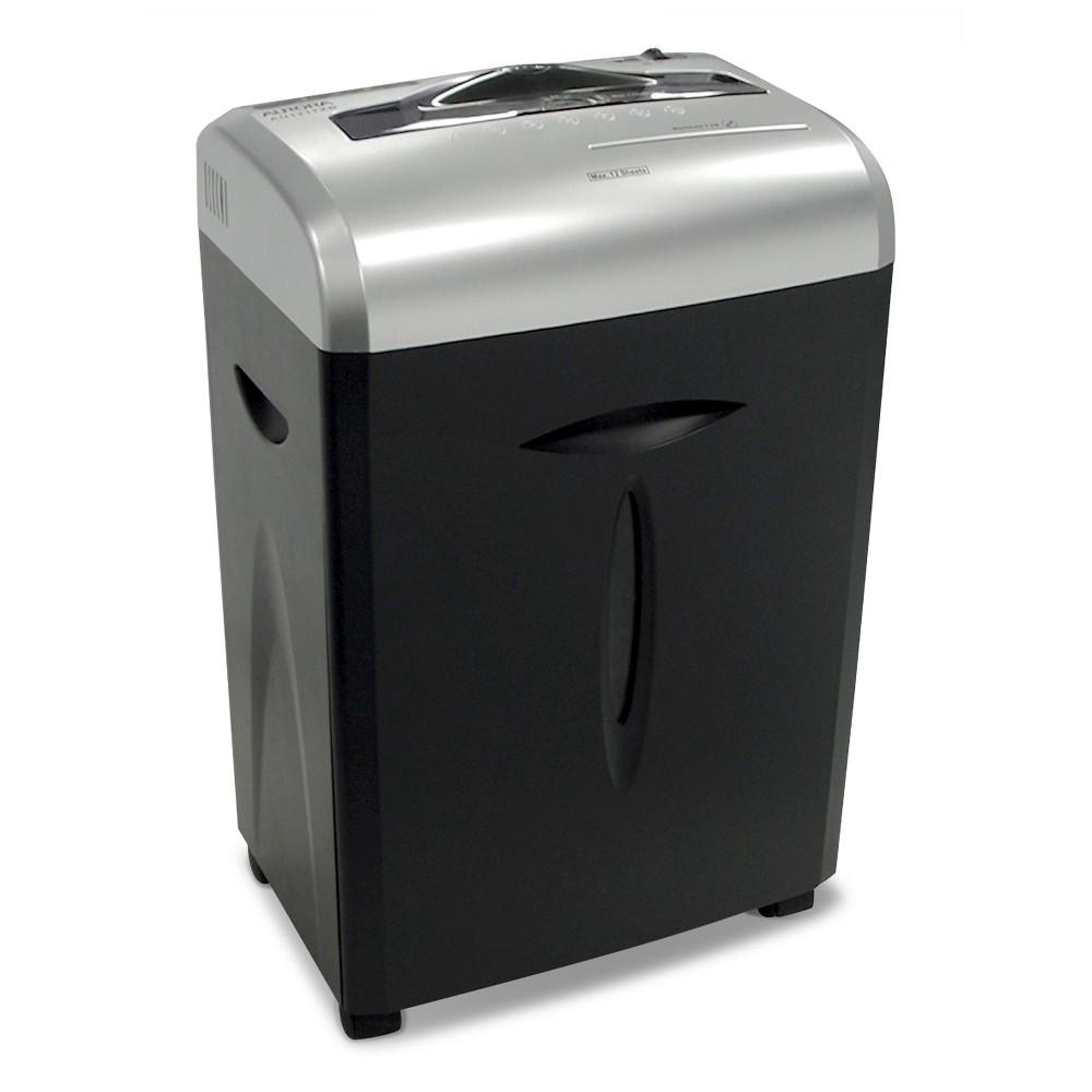 Aurora 12 Sheet Paper/CD Shredder with Pull-Out basket Black/Gray - AU1217XB