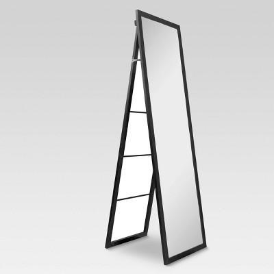 Wooden Mirror with Ladder Black - Threshold™