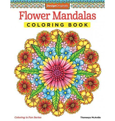 Flower Mandalas Adult Coloring Book - image 1 of 1