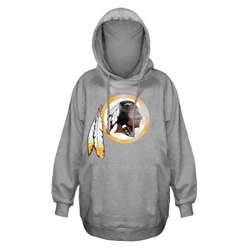 5118ab01 Washington Redskins Women's Plus Size Team Logo Fleece Pullover Hoodie  Sweatshirt - 3X