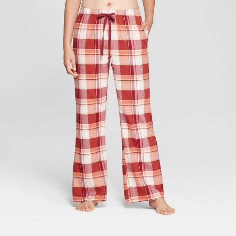 07557feb2fc4 Women s Plaid Flannel Pajama Pants - Gilligan   O Malley™ Burgundy S ...