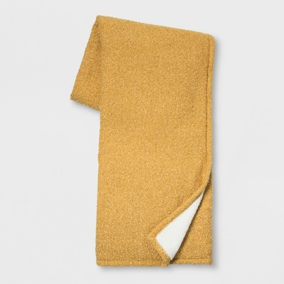60 x50  Solid Boucle Throw Blanket Gold - Threshold™