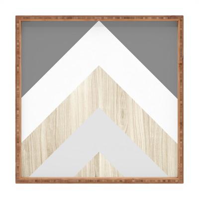 Iveta Abolina Chevron Peak Tray (16 )- Deny Designs
