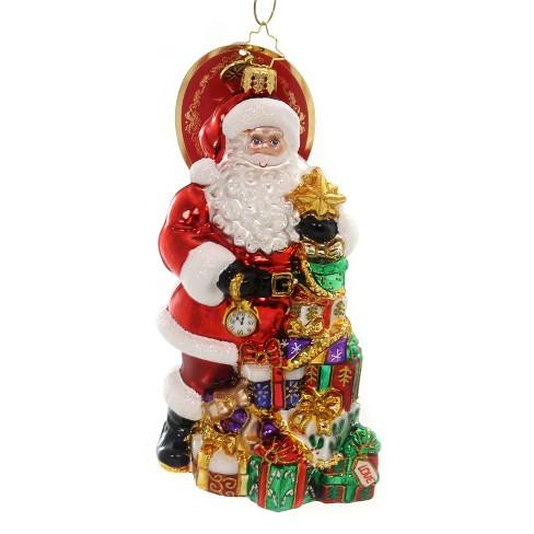 "Christopher Radko 6.25"" Present Pile-Up Santa Time Gifts - image 1 of 2"