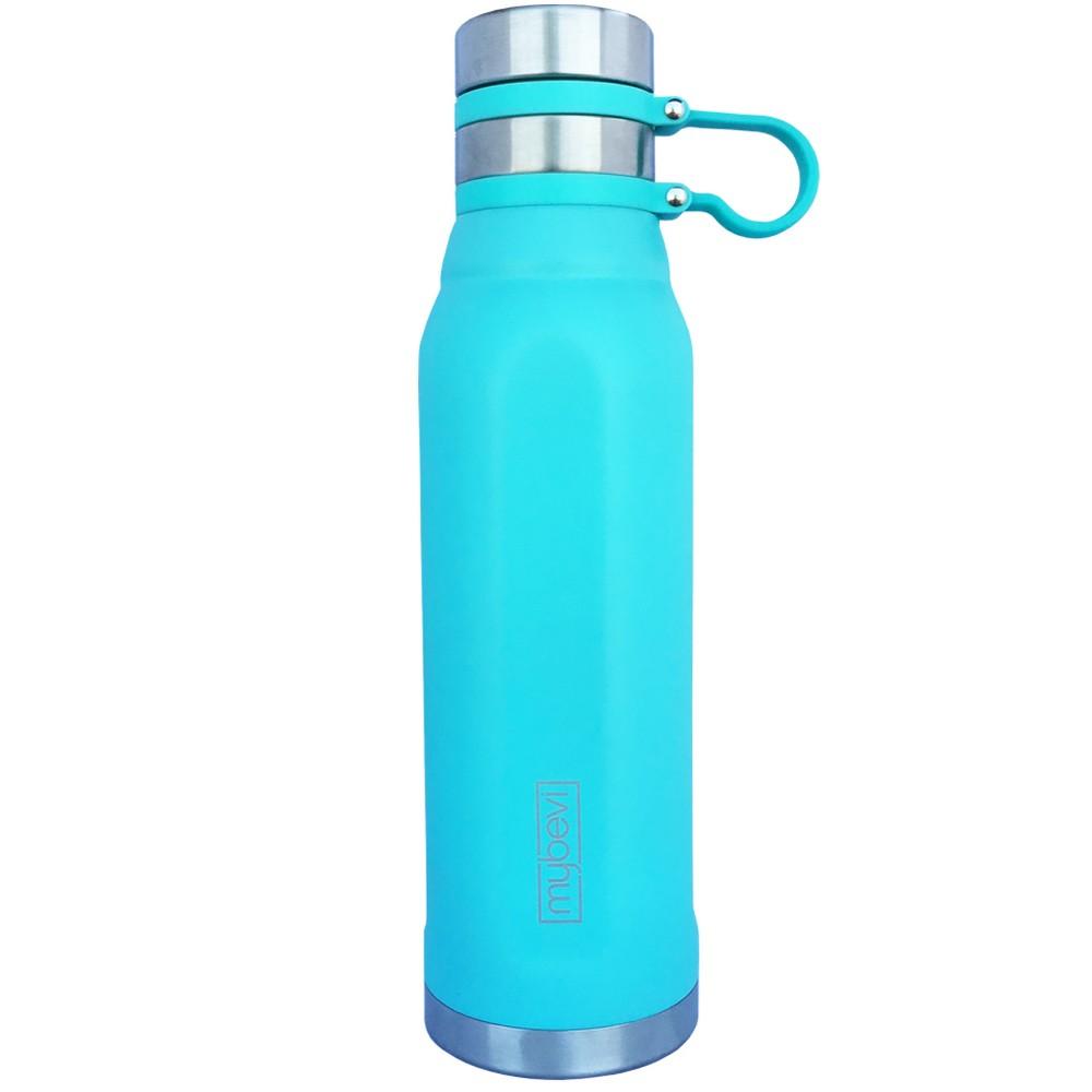 Image of MyBevi 25oz Quatro Sport Water Bottle with Spill Proof Lid Aqua (Blue)