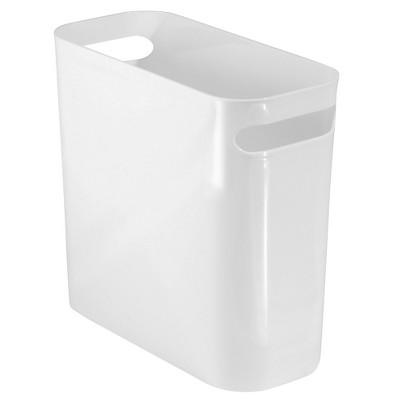 InterDesign Una Plastic Rectangular Wastebasket - White (10 )